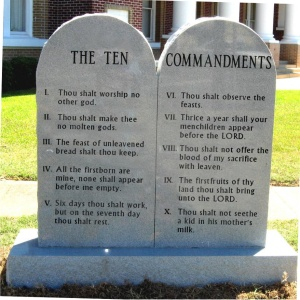 the real Ten Commandments